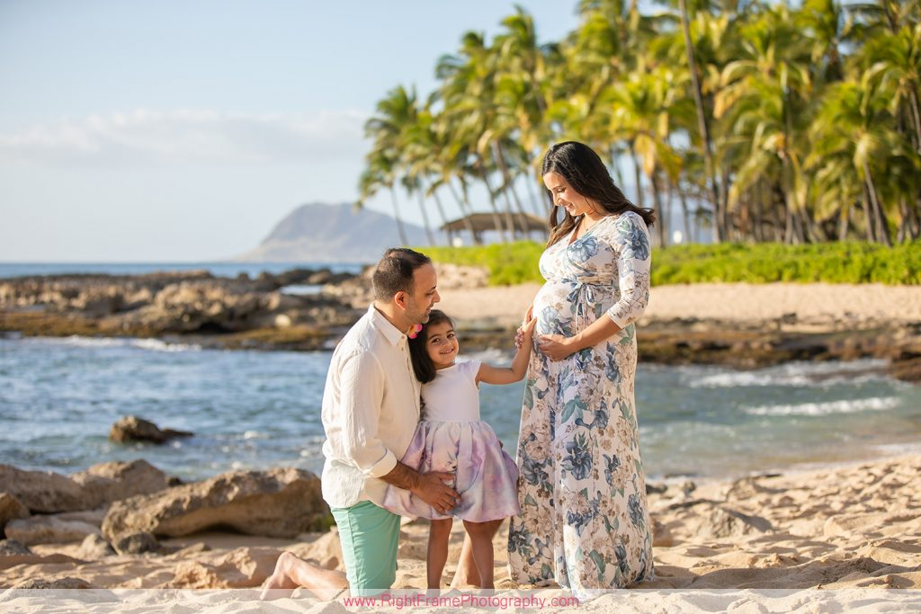 Ko Olina Maternity Photoshoot with Seema at Secret Beach Hawaii