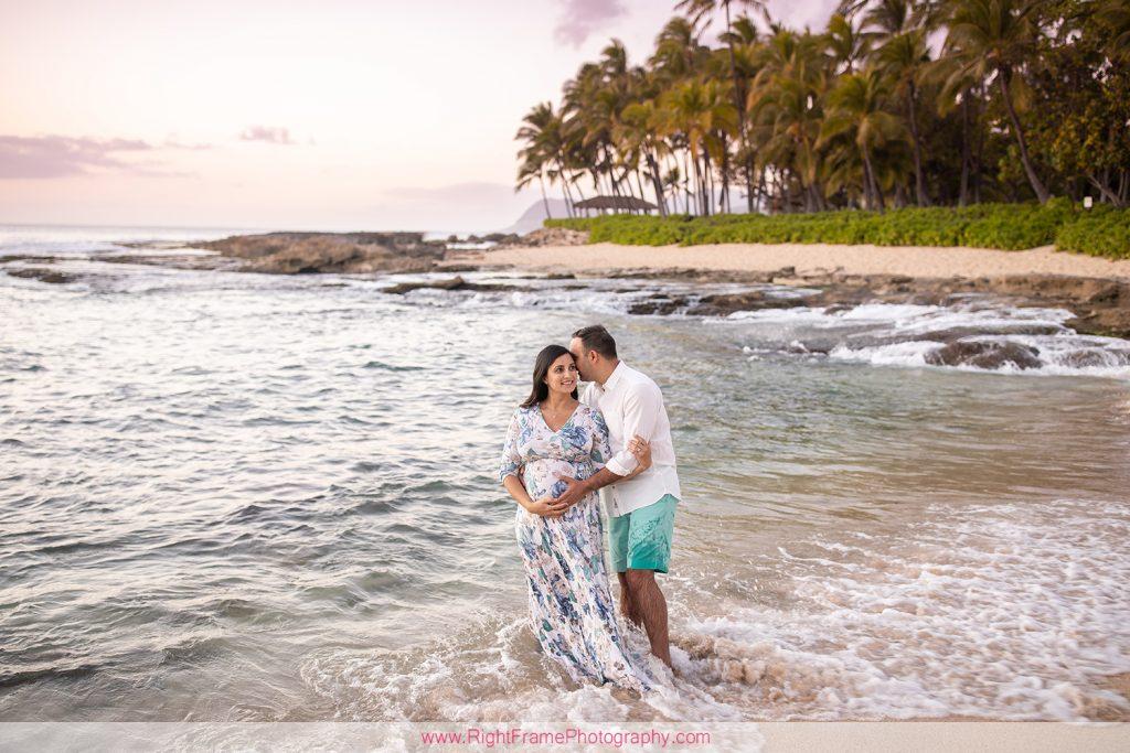 Ko Olina Maternity Photoshoot with Seema at Secret Beach Hawaii