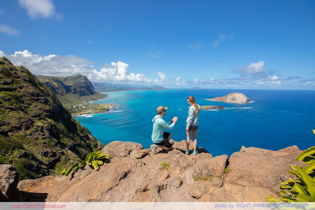 Honolulu Proposal Photographer Makapuu Lighthouse Trail Oahu