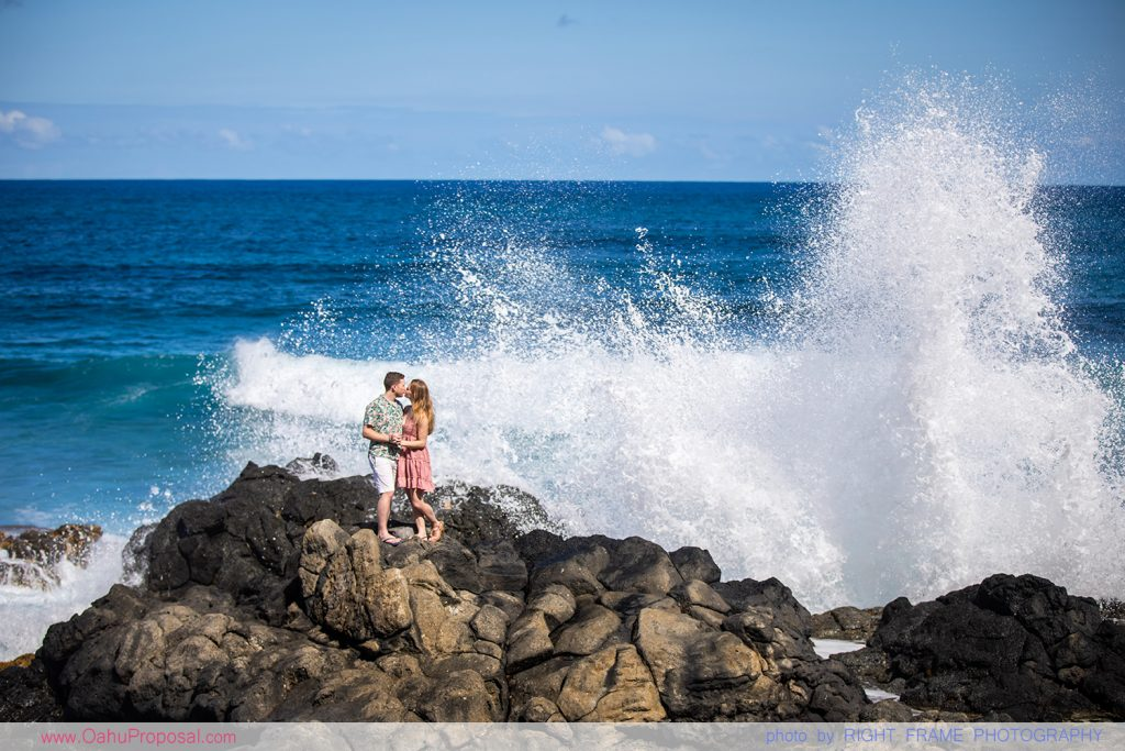 Honolulu Proposal Photographer Makapuu beach Oahu