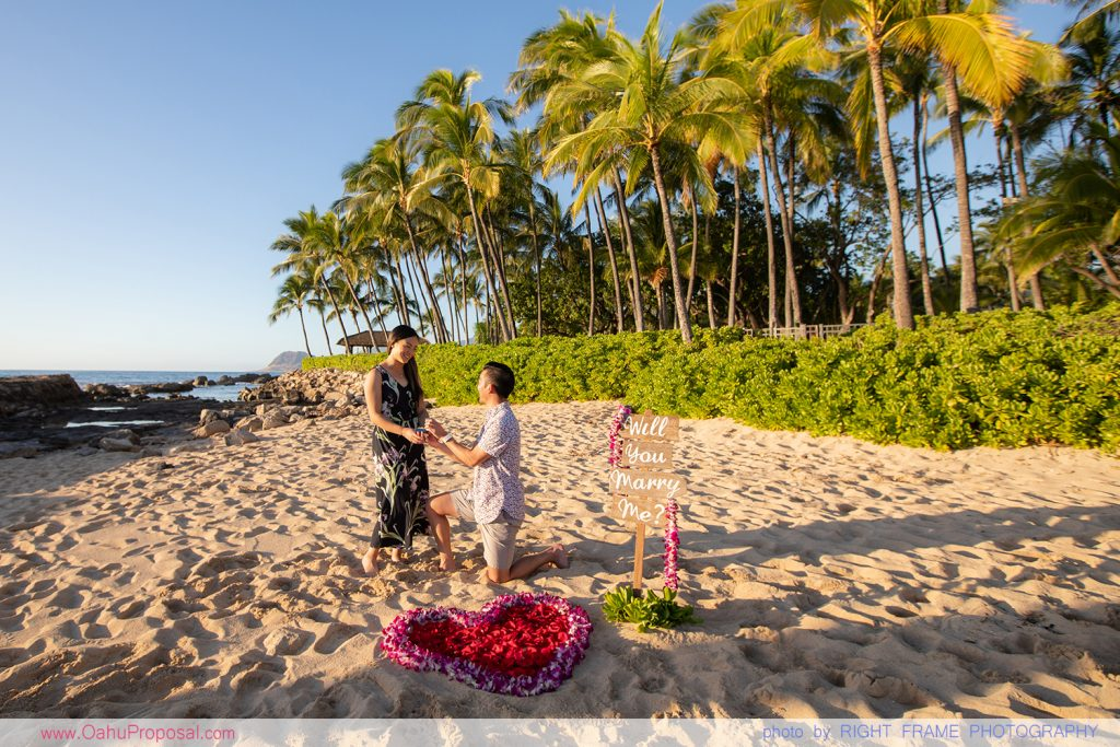 Ko Olina Proposal Photographer Oahu Engagement