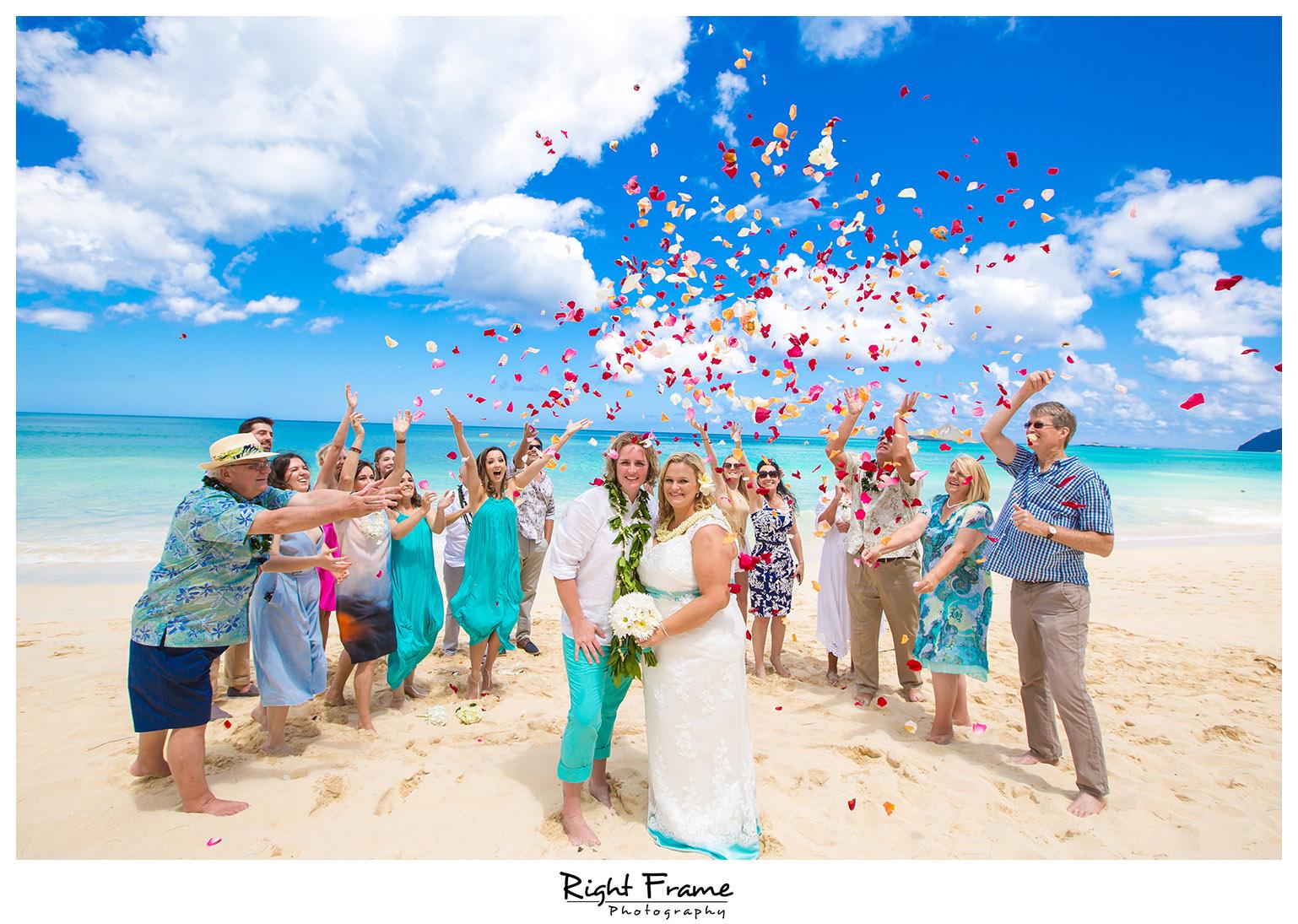 Hawaii Beach Wedding At Hale Pohaku Waimo By Right Frame